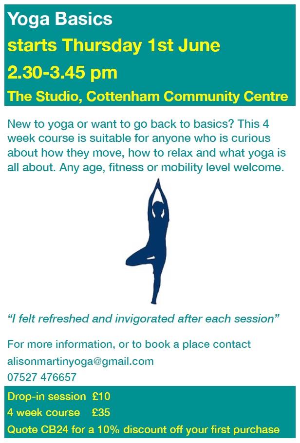 NEW CLASS, Starts 1st June – Yoga Basics « Cottenham